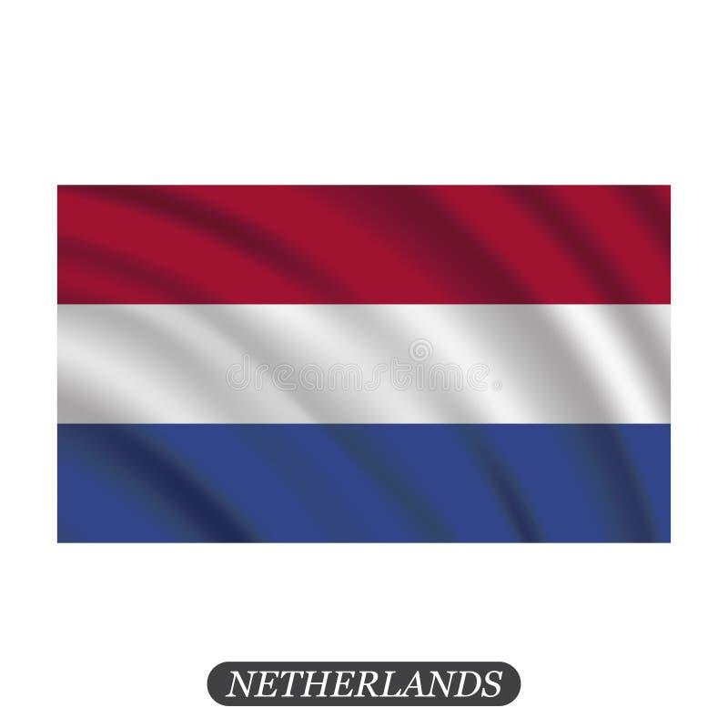 Waving Netherlands flag on a white background. Vector illustration vector illustration