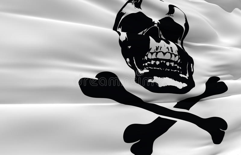 Download Waving Pirate Flag Royalty Free Stock Photo - Image: 14464575