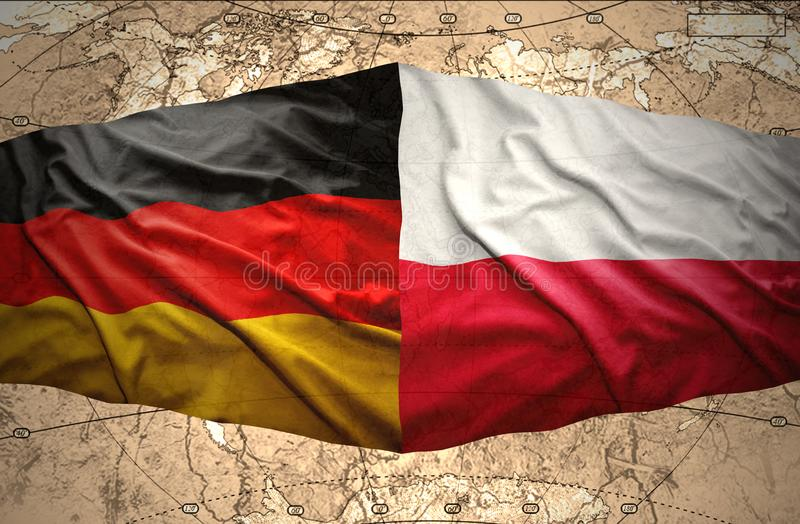 Poland and Germany stock illustration  Illustration of peace