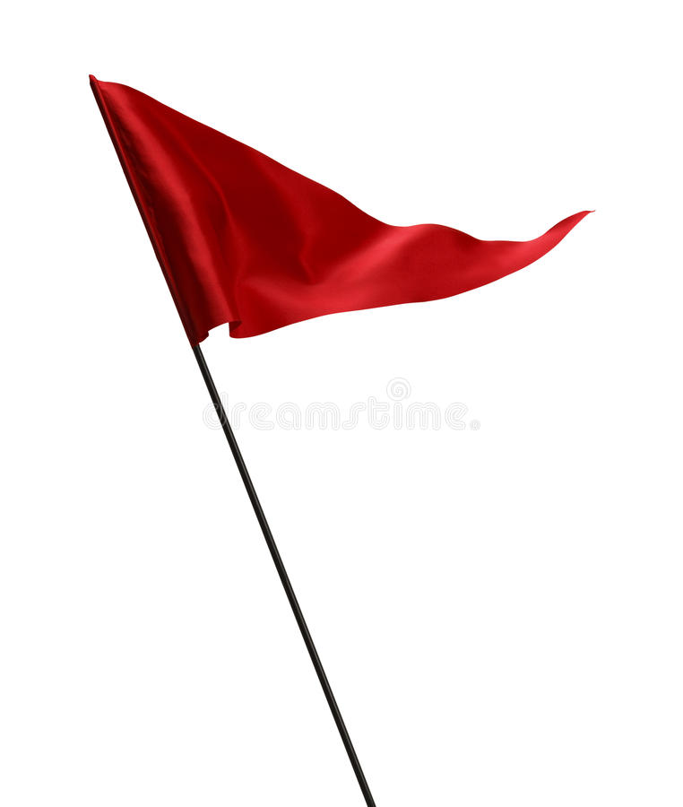 Waving Red Golf Flag royalty free stock image