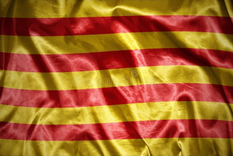 Shining catalan flag. Waving and shining catalan flag vector illustration