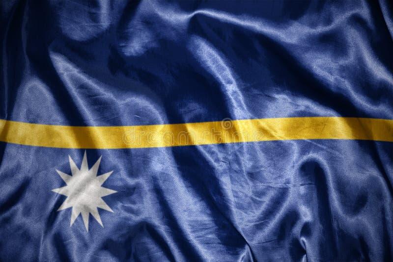 shining nauru flag stock illustration