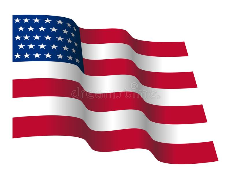 waving stars and straps american flag stock vector illustration of rh dreamstime com waving american flag vector free download waving american flag vector ai