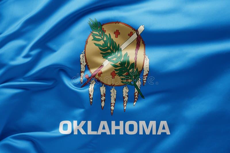 Waving state flag of Oklahoma - Verenigde Staten van Amerika royalty-vrije stock afbeeldingen