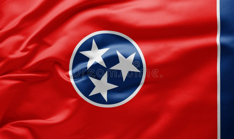 Waving state flag of Tennessee - United States of America stock photography