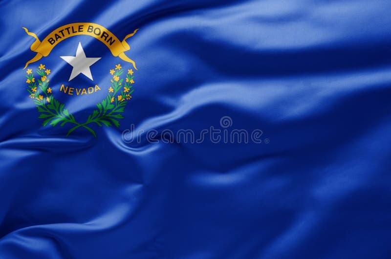 Waving State flagge of Nevada - Vereinigte Staaten von Amerika stockbild