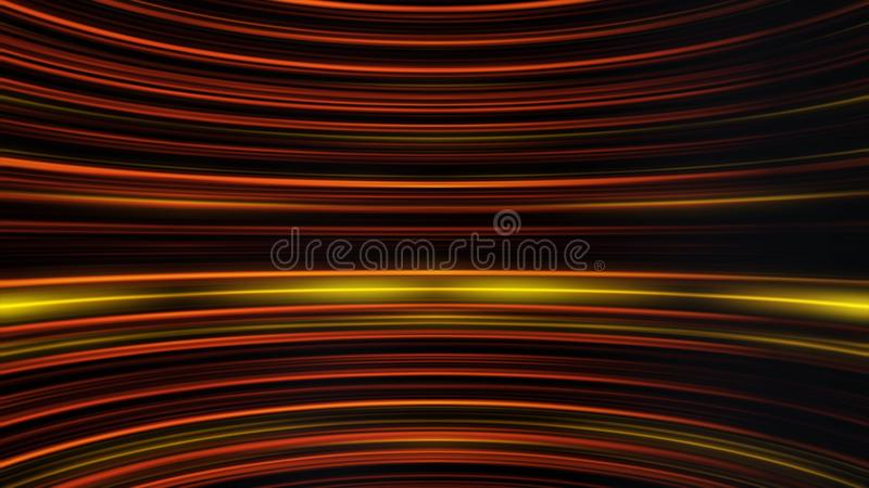 Waving stripes of shimmering light moving endlessly and parallel to each other. Abstract colorful background with curved stock illustration