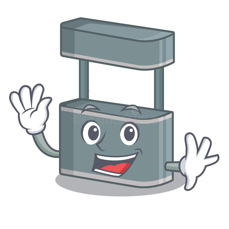 Waving trade stand in the character shape. Vector illustraton royalty free illustration