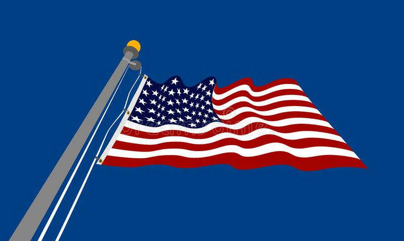 Waving_USA_flag στοκ φωτογραφίες με δικαίωμα ελεύθερης χρήσης