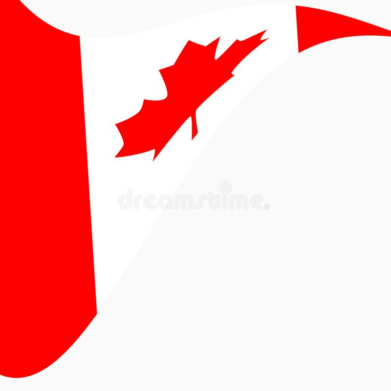Waving Flag of Canada on a white background. vector illustration
