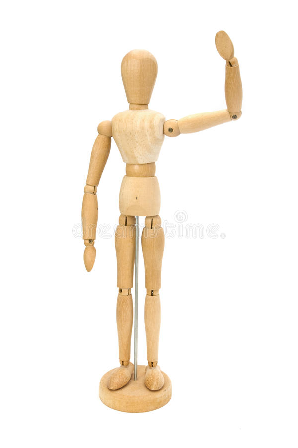 Download Waving Wooden Artists Mannequin Stock Photography - Image: 19971952