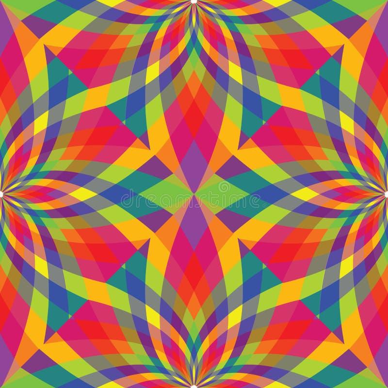 wavy abstrakt seamless textur royaltyfri illustrationer