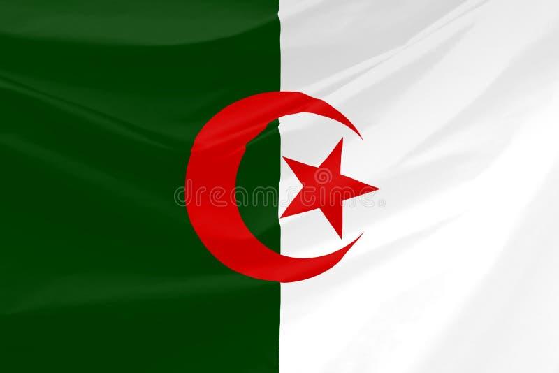 wavy algeria flagga vektor illustrationer
