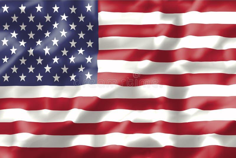 Wavy american flag royalty free illustration
