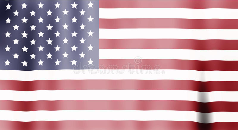 Wavy american flag stock illustration