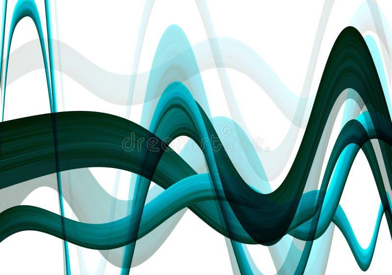 Wavy background stock illustration