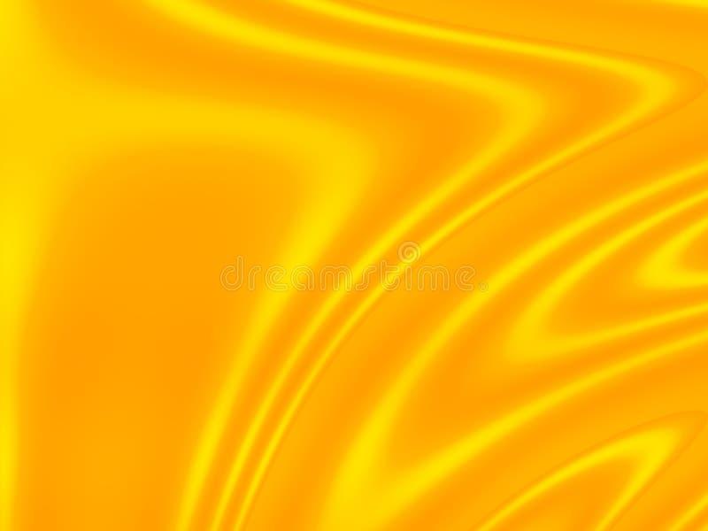 Wavy background: yellow royalty free illustration