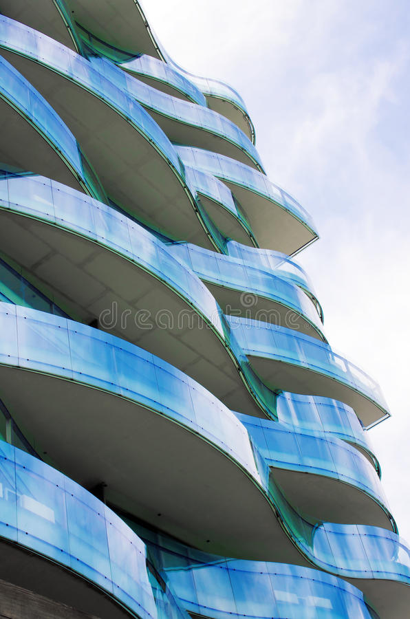 Download Wavy Balconies stock image. Image of europe, abstract - 25264557