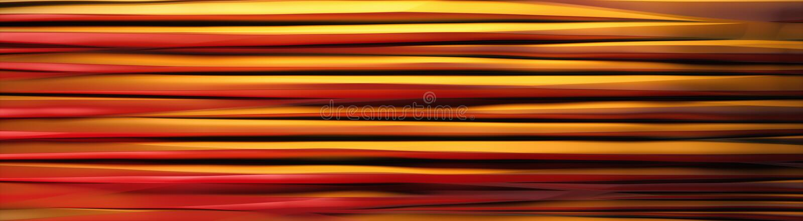 Wavy Band Background Red Yellow lines banner stock illustration