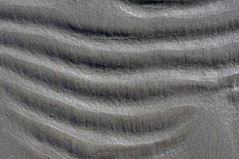 Wavy beach sand background, horizontal waves stock images