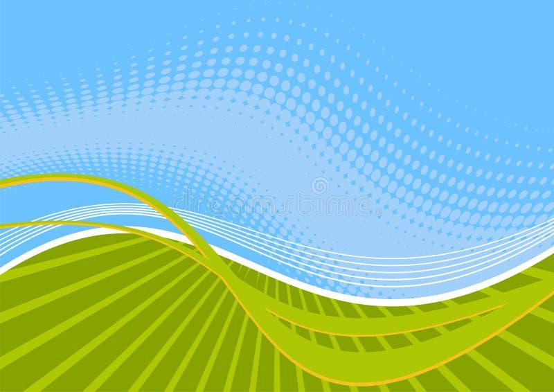 wavy blåa gröna linjer vektor illustrationer