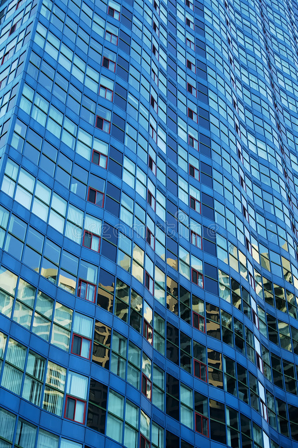 Download Wavy Blue Building stock photo. Image of floors, motels - 107574