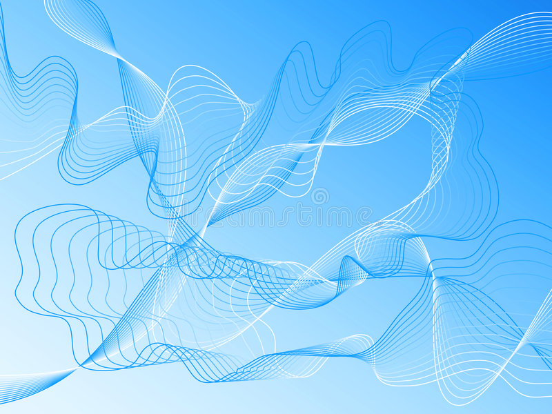 Download Wavy blue vector lines stock vector. Image of arching - 3523855