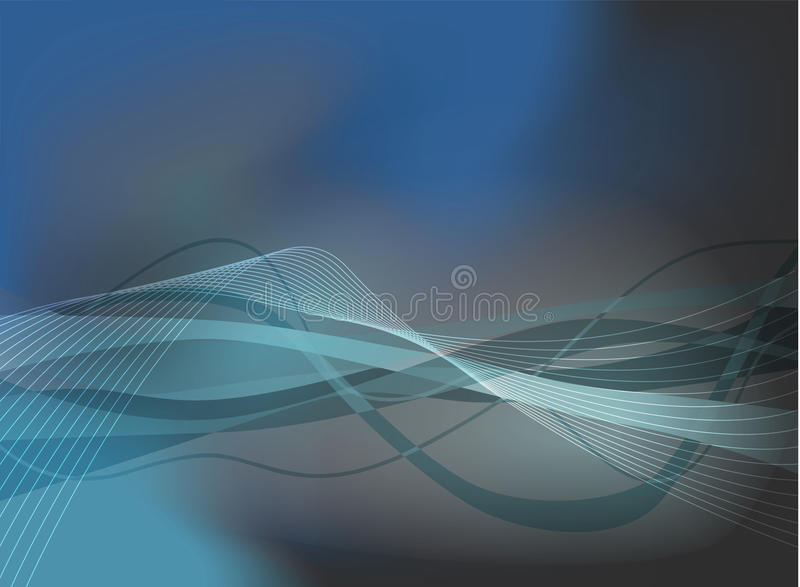 Download Wavy blues stock illustration. Image of element, graphic - 14376383