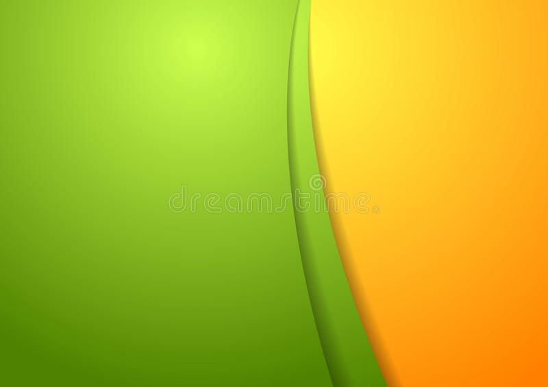 Wavy bright abstract design template stock illustration