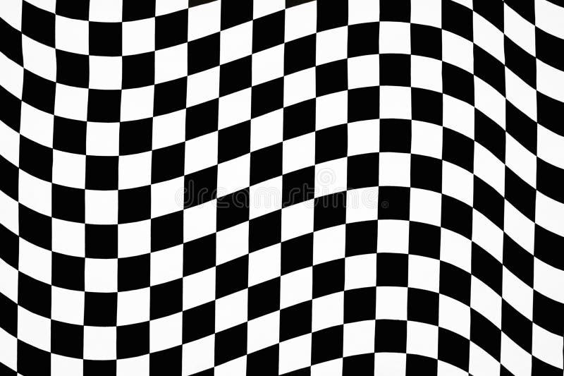 Wavy checkered pattern stock photos