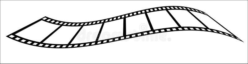 Wavy Film Strip stock illustration