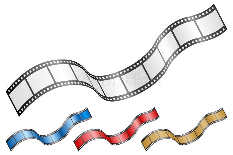 Wavy film strip 2 stock illustration
