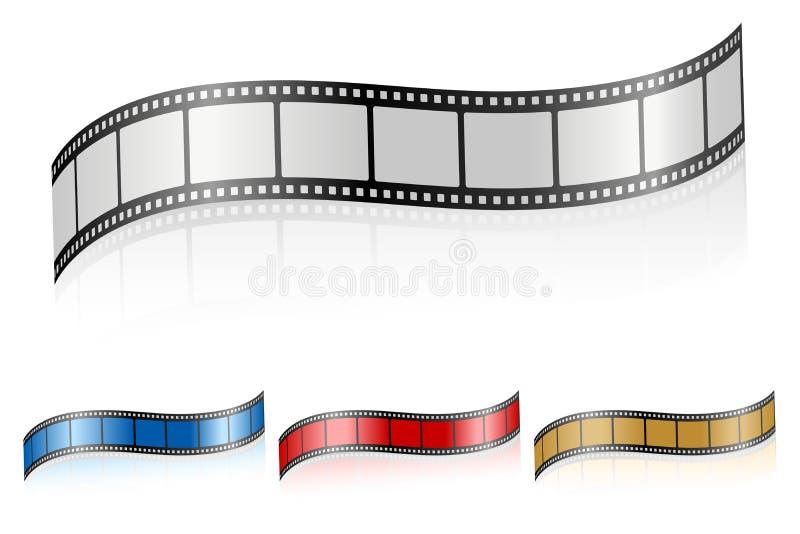 Wavy film strip 3 vector illustration