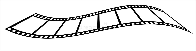 wavy filmremsa stock illustrationer