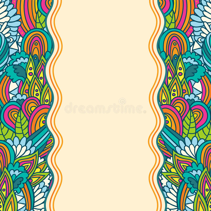 Download Wavy Floral Sketch Template Stock Illustration - Illustration of colorful, decoration: 50376722