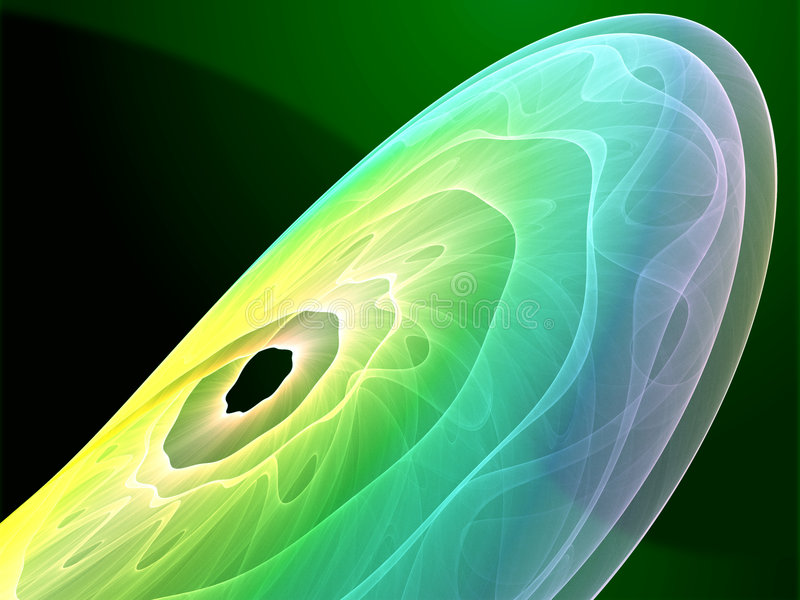Download Wavy glowing colors stock illustration. Image of green - 7227159