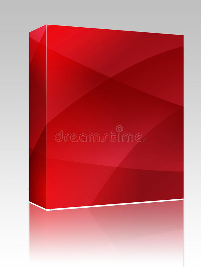 Wavy glowing colors box package stock illustration