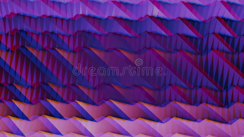 Wavy gradient animation in purple and pink colors with anaglyph effect. Animation. Bright lilac digital waves movement. Wavy gradient animation in purple and royalty free illustration