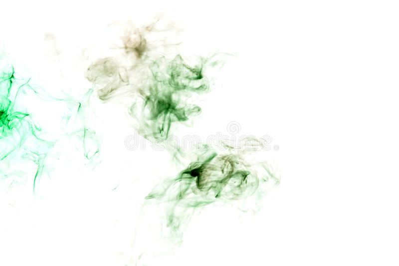 Wavy green smoke or ink pattern on a white background. Print for clothes. Disease and viruses. Wavy green smoke or ink pattern on a white isolated background royalty free stock images