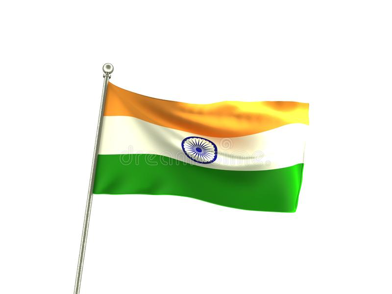 Wavy India Flag. Transparent Flag stock illustration