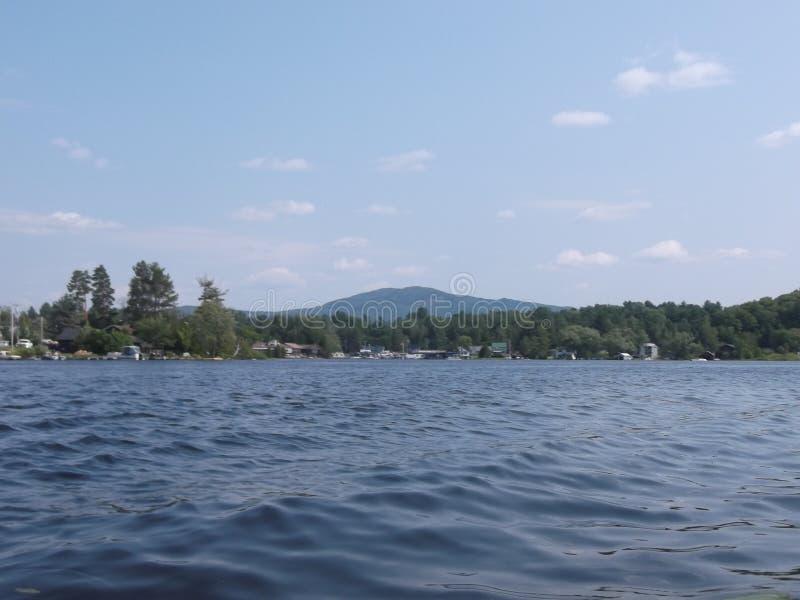 Wavy lake royalty free stock images