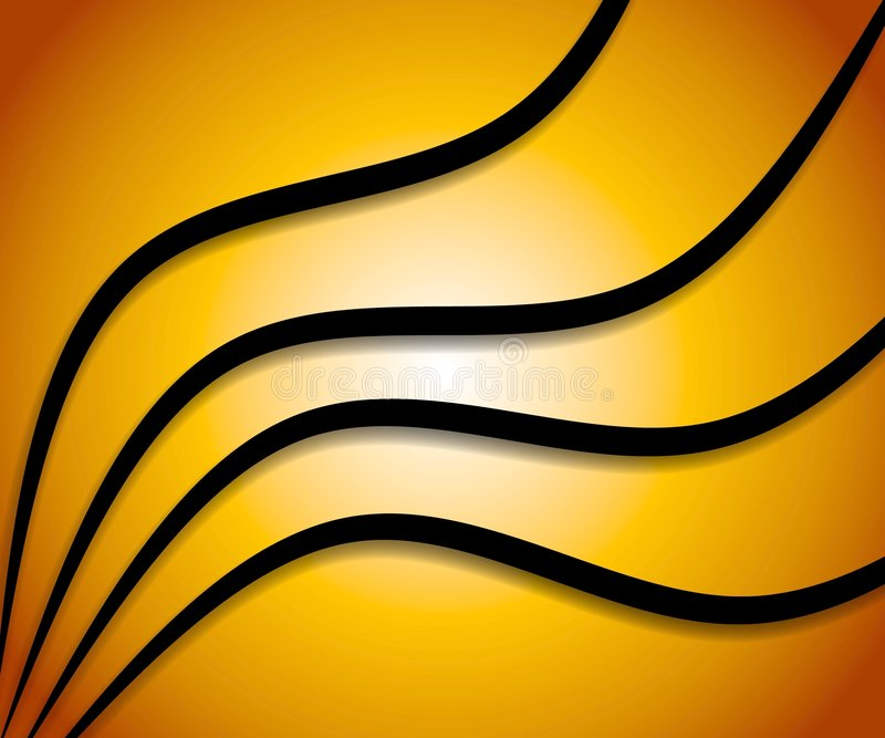 Download Wavy Lines Background Gold Stock Photo - Image: 3234660