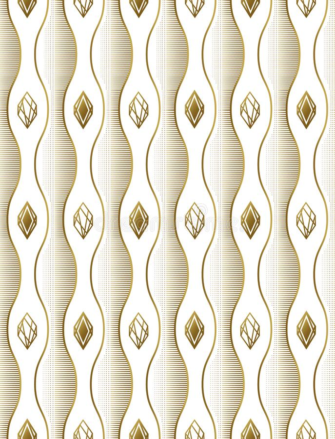 Wavy lines and diamonds, Seamless background, smooth bends, stripes. Pattern for fabrics, prints. vector illustration
