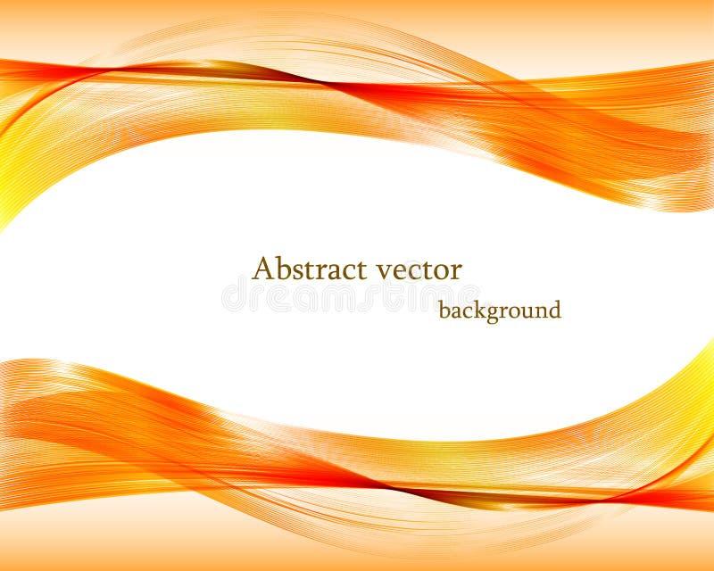 Abstract orange wavy vector background. vector illustration