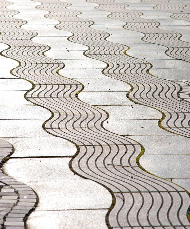 Wavy pattern. Of a sidewalk royalty free stock photo
