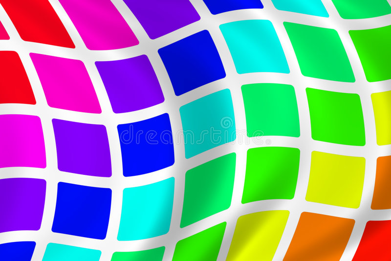 Download Wavy Rainbow Squares stock illustration. Illustration of wave - 245761