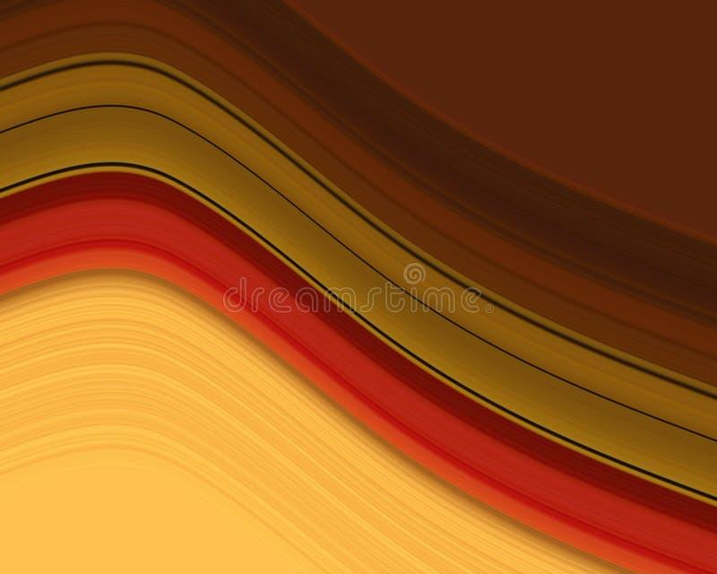 Wavy stripes stock illustration