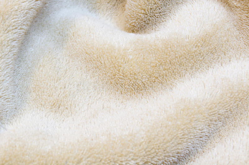 Beige towel royalty free stock photography