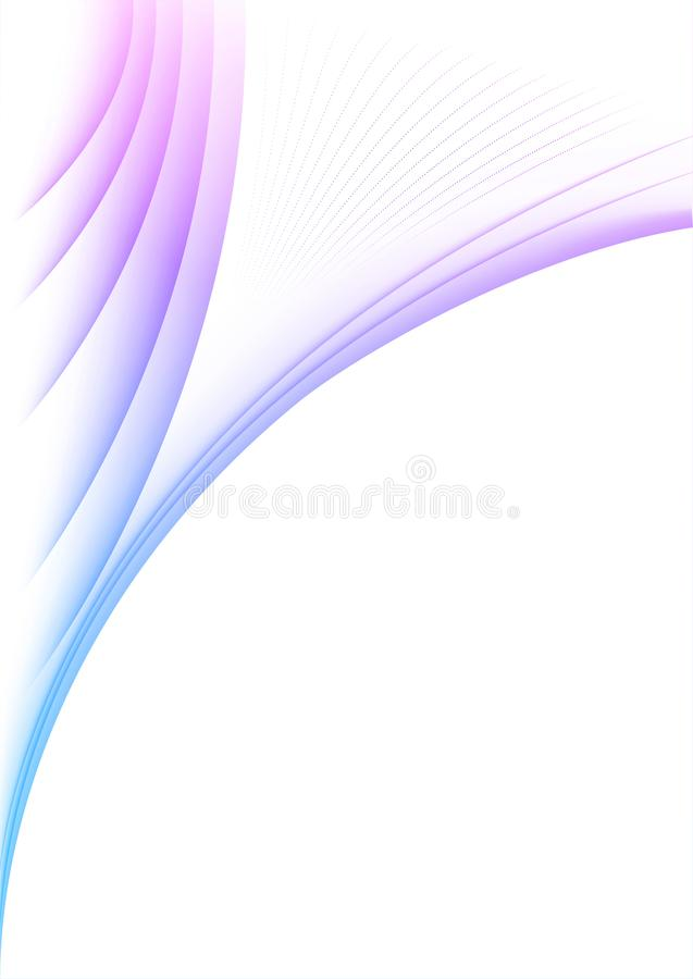 Wavy violet lines on paper royalty free stock photography