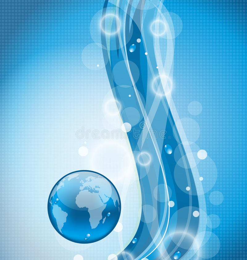 Download Wavy Water Background With Earth Planet Royalty Free Stock Photo - Image: 30751275